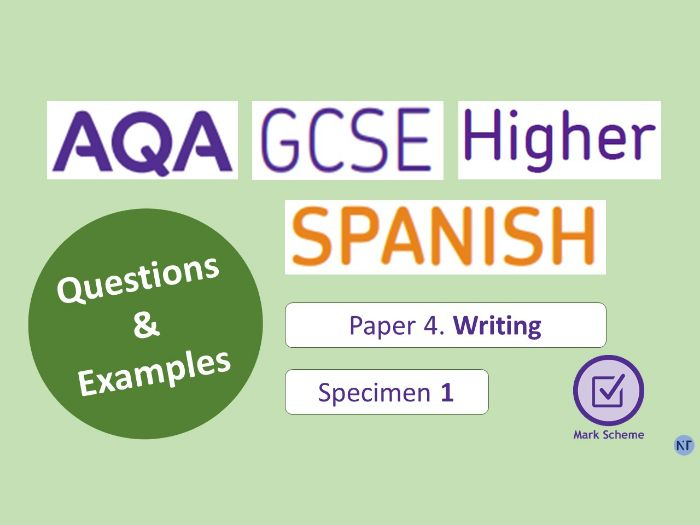 GCSE Higher Paper 4: Writing (Specimen 1)