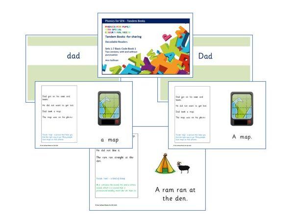 Tandem Books - Decodable Readers - Adult & Pupil versions - Basic Code - Phonics for SEN