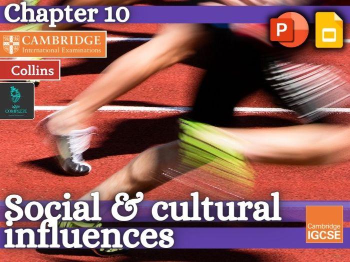 IGCSE / GCSE  PE - SOCIAL & CULTURAL INFLUENCES (Chapter 10) - complete teaching resource