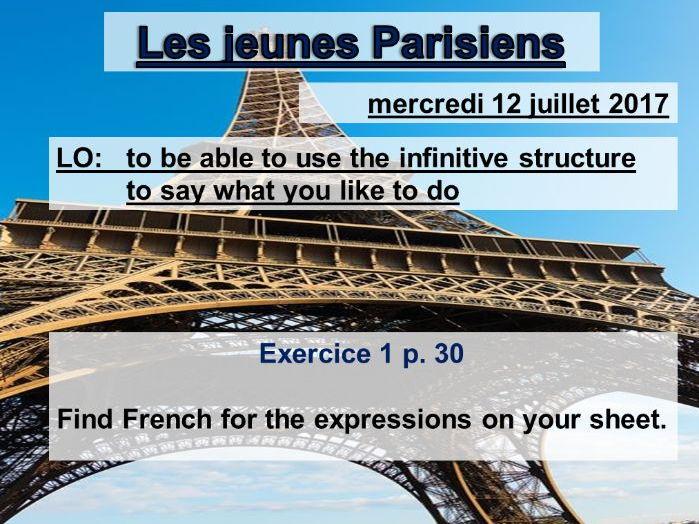 Les jeunes Parisiens - Studio 2 Vert Module 2 Unit 2
