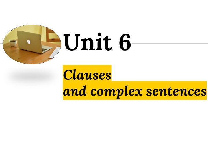 Grammar Unit 6+7+8+9