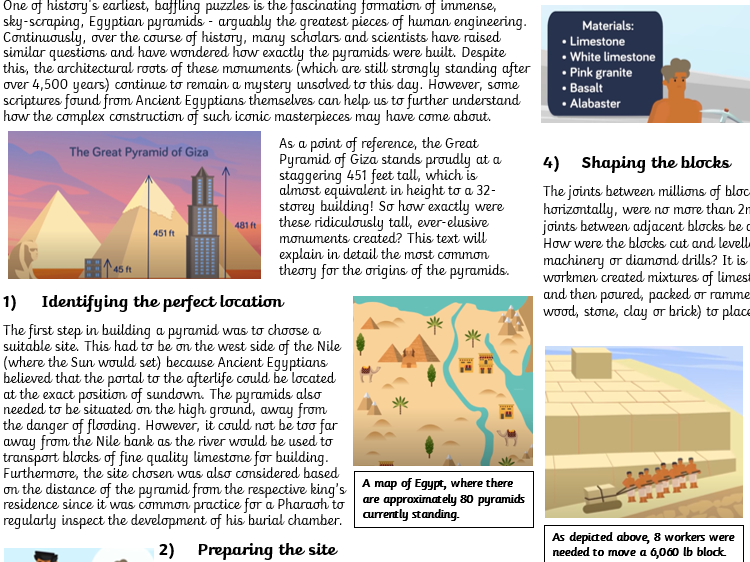 Explanation Text Ancient Egypt How Were The Pyramids Built?