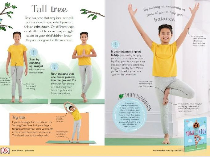 Tree Pose - Yoga for Children aged 7 - 9