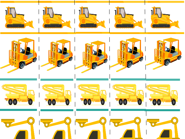 Construction Vehicles Cutting Strips