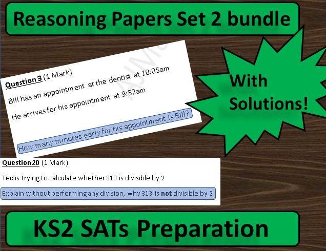 KS2 Maths SATs Reasoning Papers Set 2 Bundle