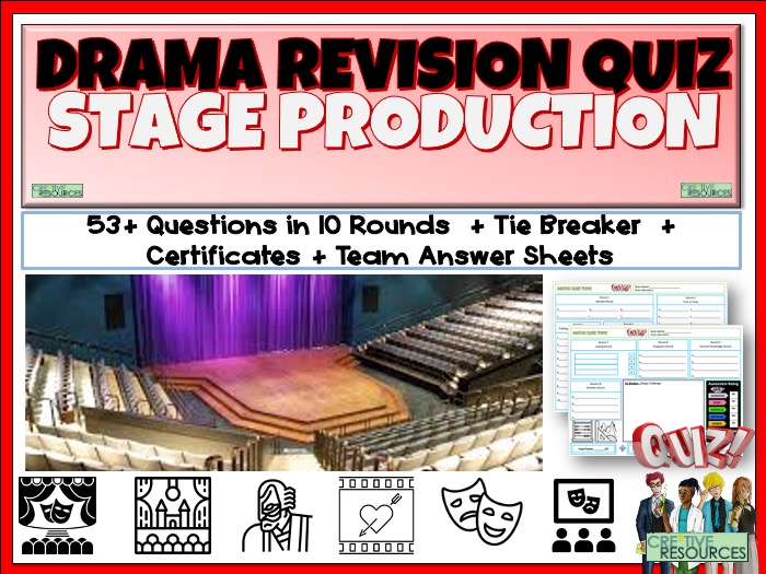Stage Production Quiz