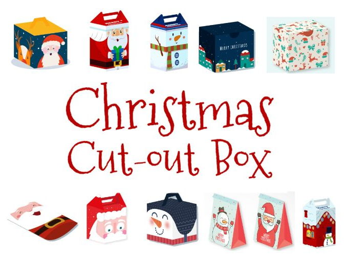 Christmas cut out boxes