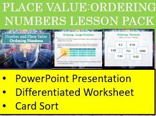 Place Value-ordering Numbers Lesson