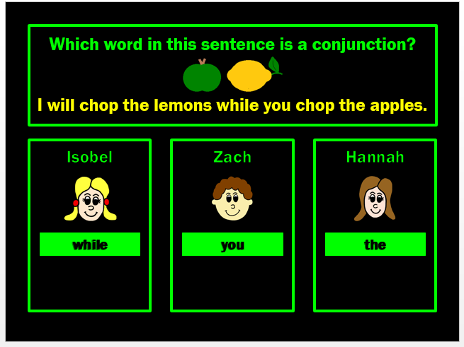 Conjunctions Powerpoint Game by Grammatickx