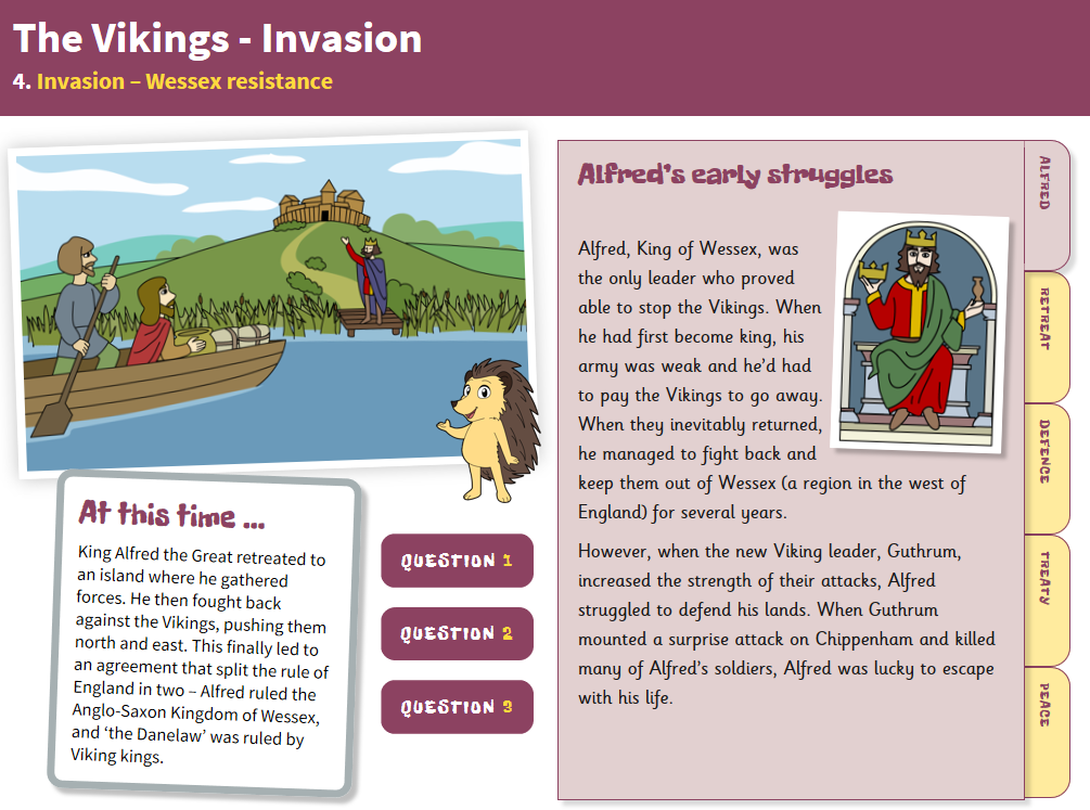 Wessex Resistance - Interactive Teaching Book - The Vikings KS2