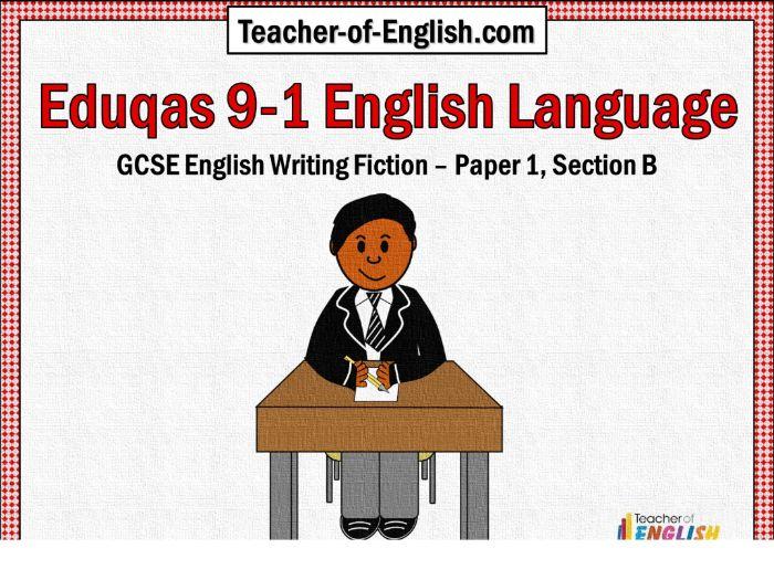 Eduqas 9-1 GCSE English - Paper 1, Section B