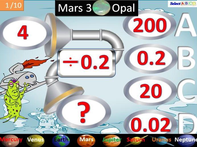 Mars 3 - Dividing with Decimals