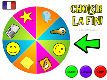 """Choisir la fin"" - Plenary Wheel / Plenary Selector / Plenary Generator (French MFL Version)!"