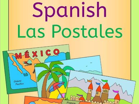 Spanish Summer Holiday - write a postcard - tarjetas postales
