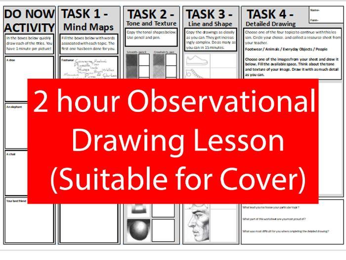 Observational Drawing - A3 Worksheet