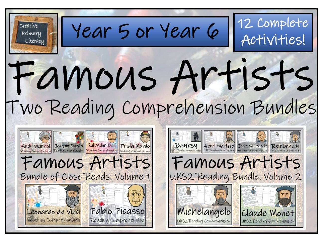 UKS2 Famous Artists Bundle of Thirteen  Reading Comprehension Activities