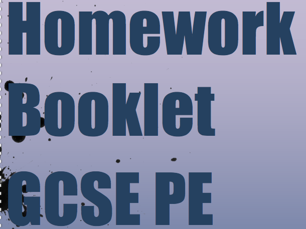 GCSE PE Homework Booklet