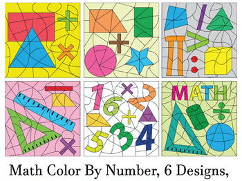 Make Your Own Color By Number - Math Theme