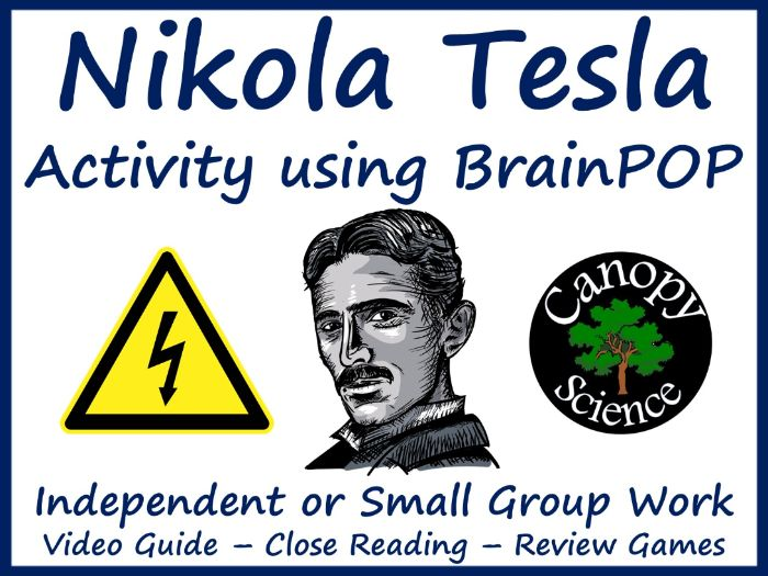 Nikola Tesla Activity using BrainPOP