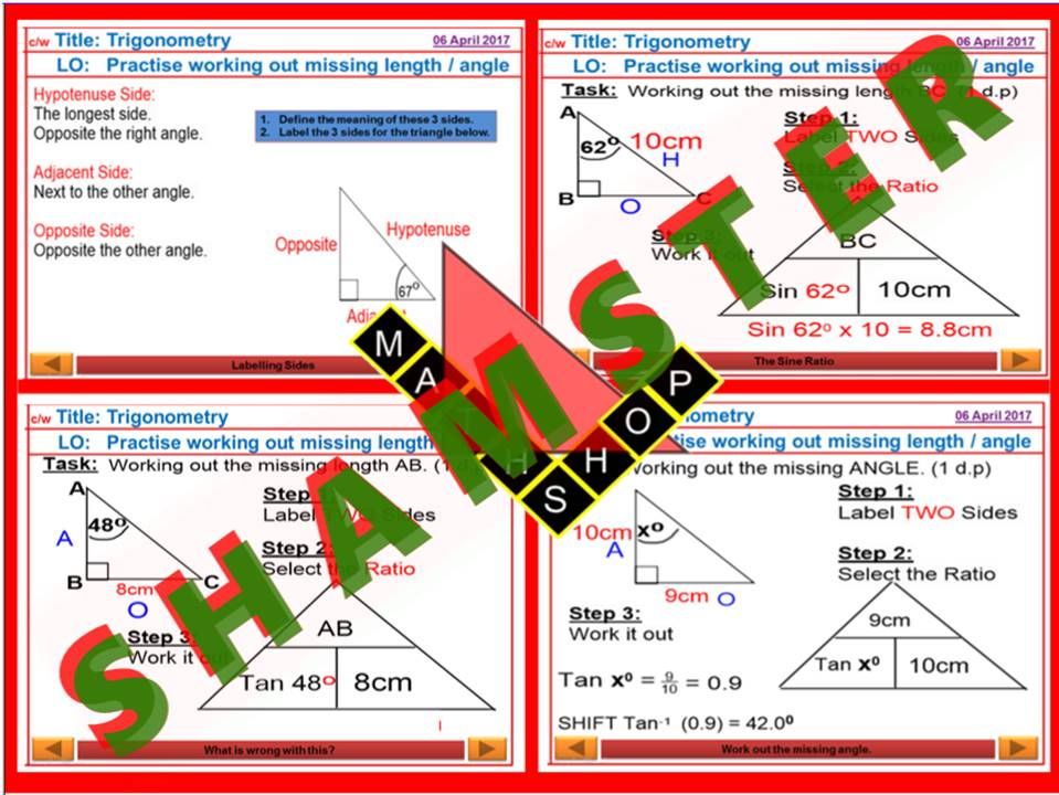 Trigonometry Pythagoras Bundle