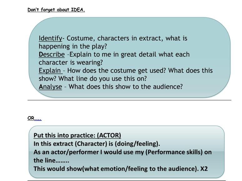 Drama Inspector Calls Component 3 Revision