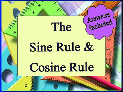 12 Miscellaneous Questions on the Sine and Cosine Rule - Answers Included