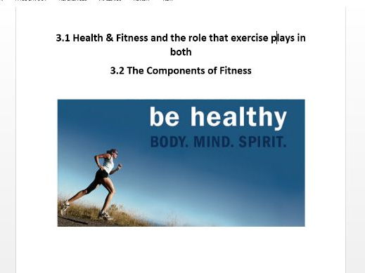 Edexcel GCSE PE 9-1. Components of Fitness Workbook