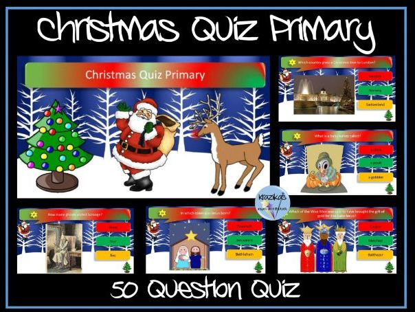Christmas Quiz Primary