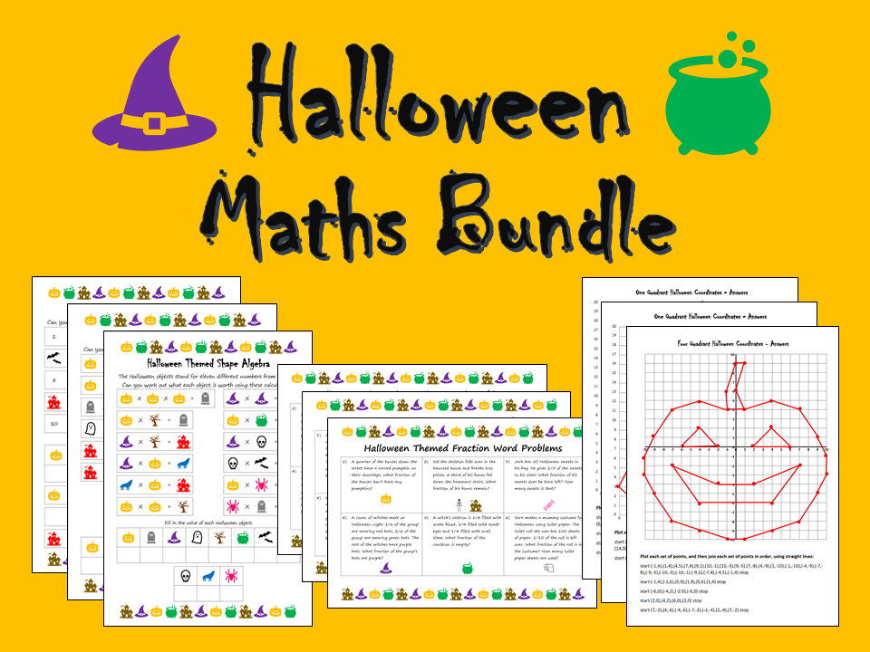 Halloween Maths Bundle - Differentiated Worksheets
