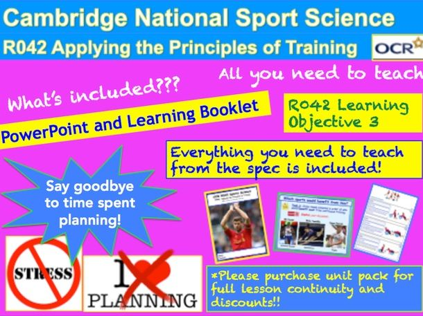 Cambridge National Sports Science R042: Learning Objective 3