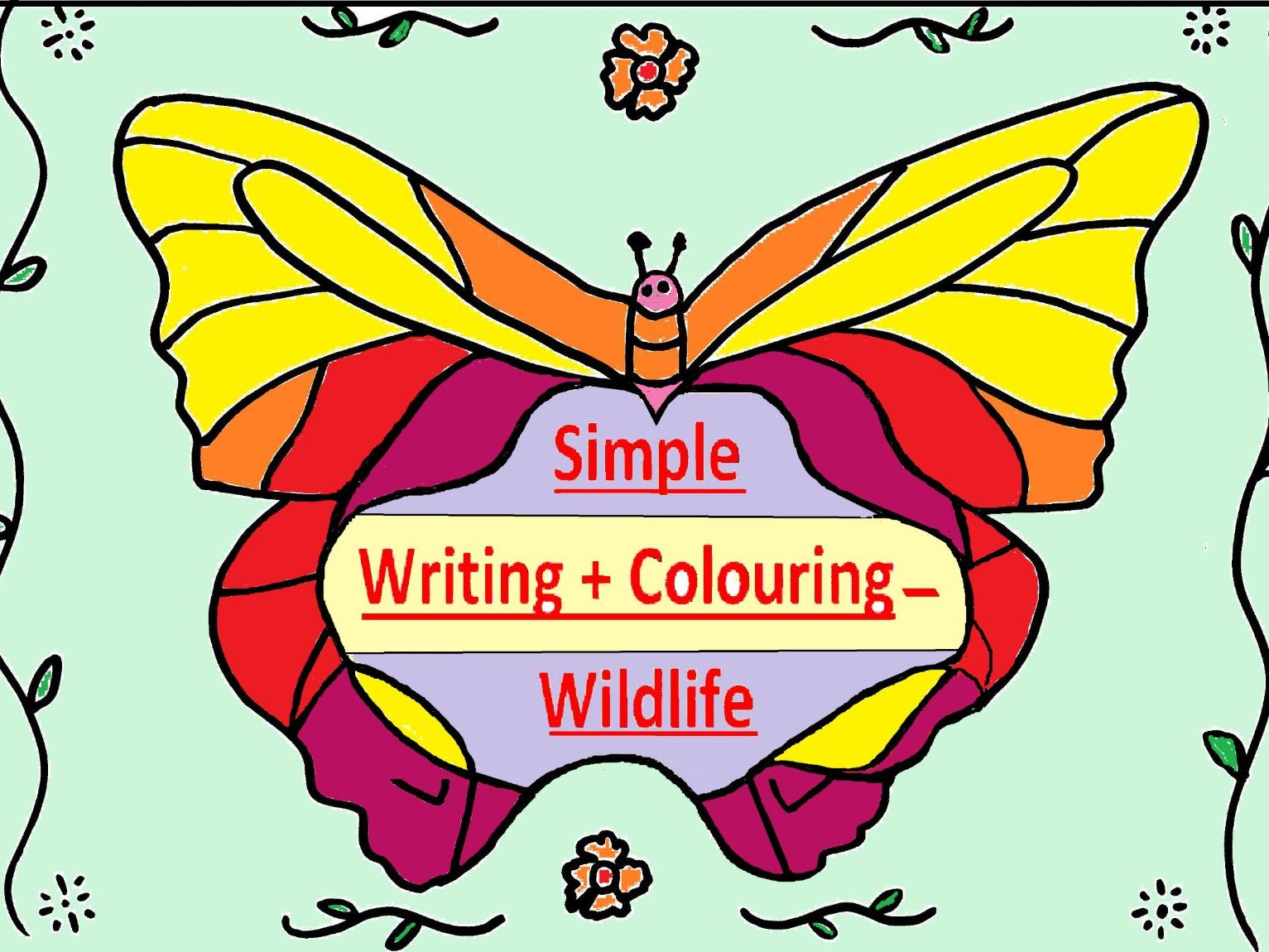 Simple Writing + Colouring - Wildlife