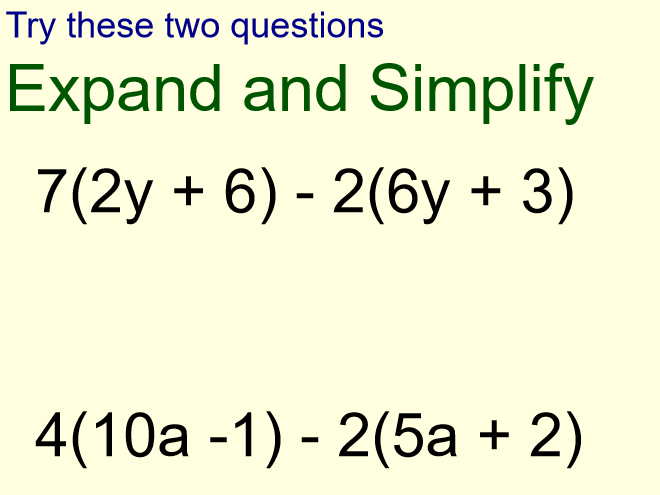 Expand and Simplify Single Brackets