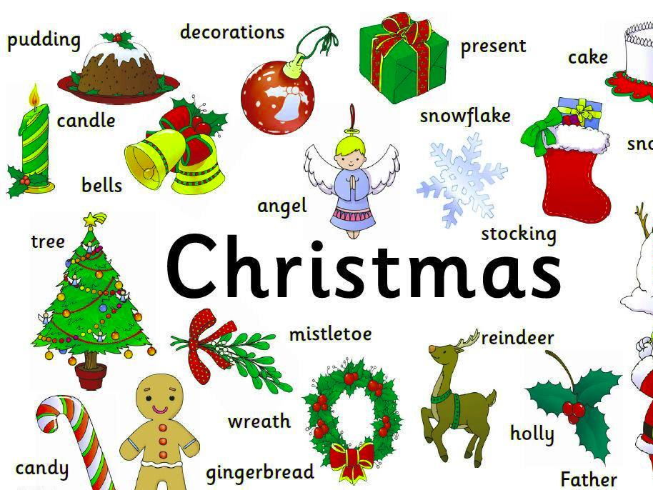 Christmas Words A Z.Christmas Vocabulary Square And Wordsearch