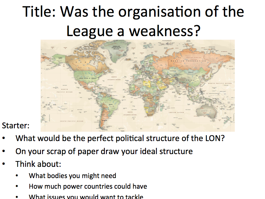 League of Nations - Lesson 2 weaknesses of the League