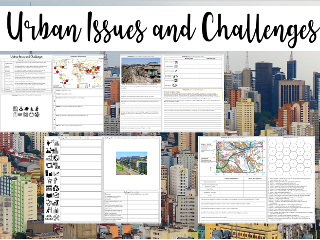 Urban Issues and Challenges Revision Sheets