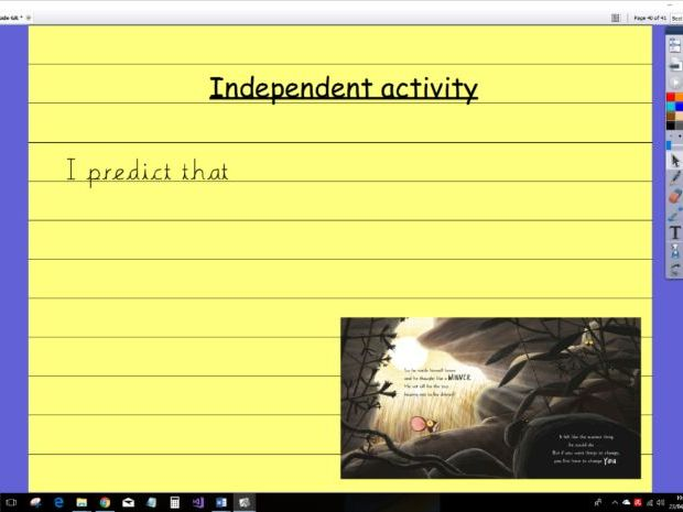 Whole Class Guided Reading Resources for year 1 The Lion Inside (Active inspire needed!)