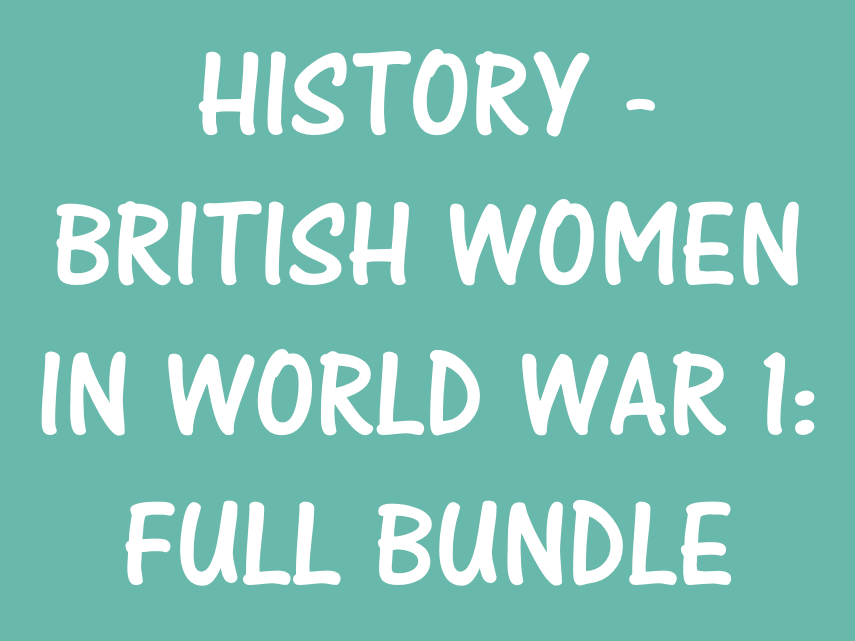 History: British Women in WW1