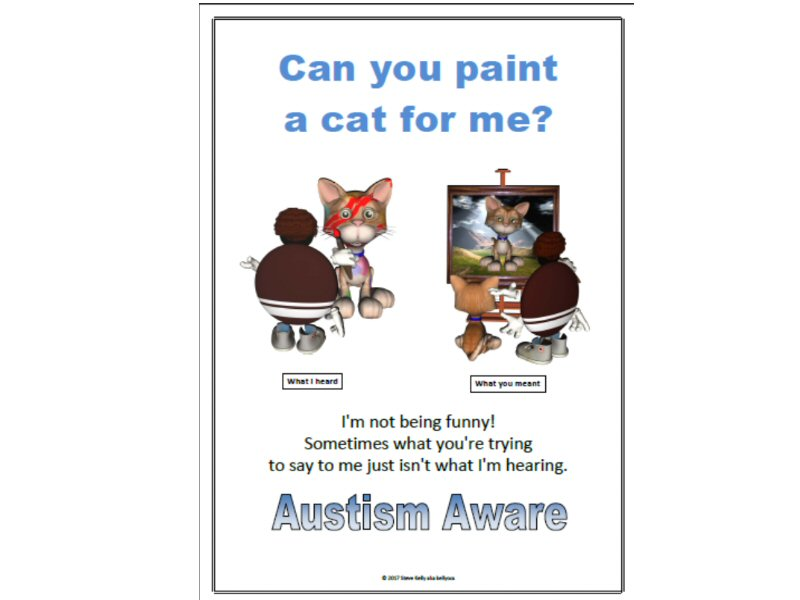 Can You Paint a Cat For Me? - Autism Aware Poster