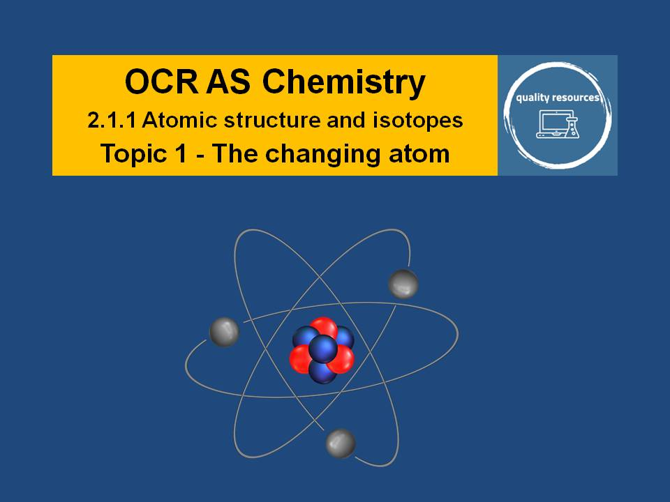 The Changing Atom - OCR AS Chemistry
