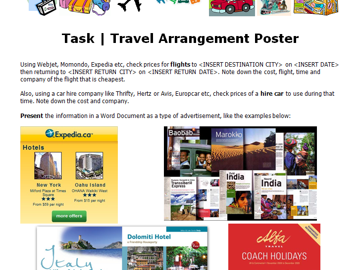 Travel Poster Activity