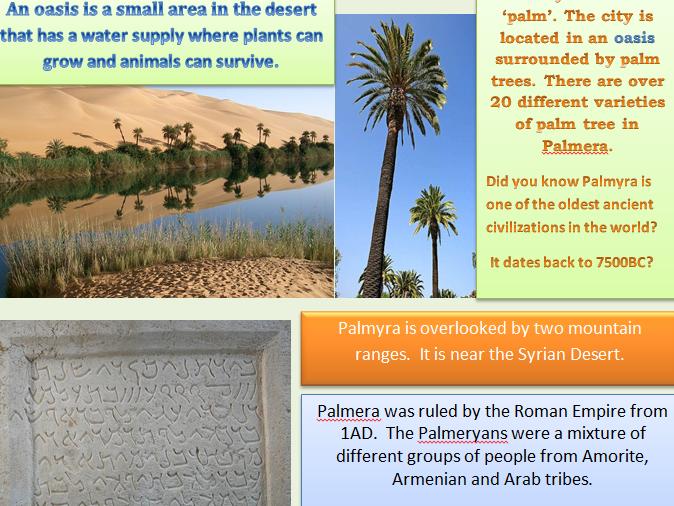 KS1&2 Ancient City of Palmyra Information Leaflet