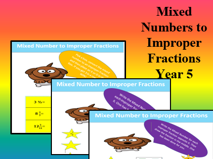 Mixed Numbers to Improper Fractions: GAMES and ACTIVITIES