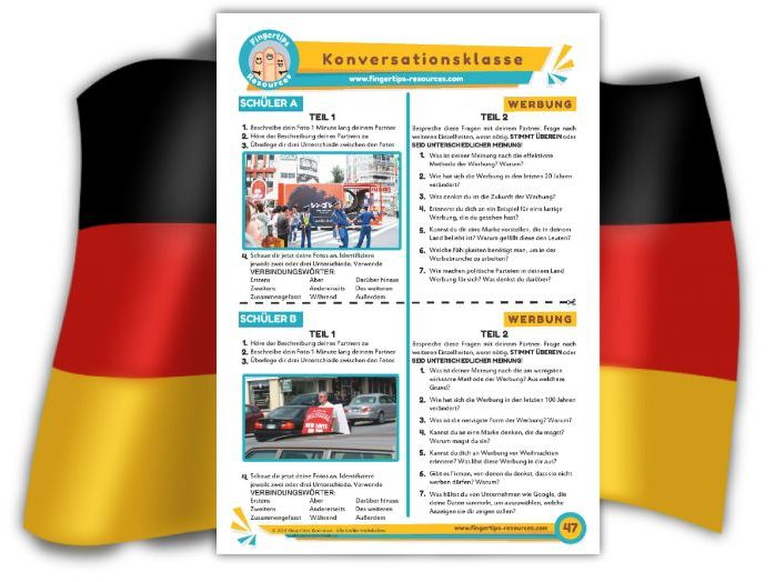 Werbung - German Speaking Activity