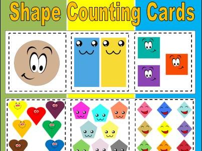 Shape Counting Cards to 12