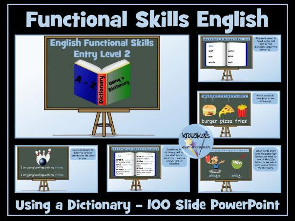 English Functional Skills Entry Level 2 - Using a Dictionary