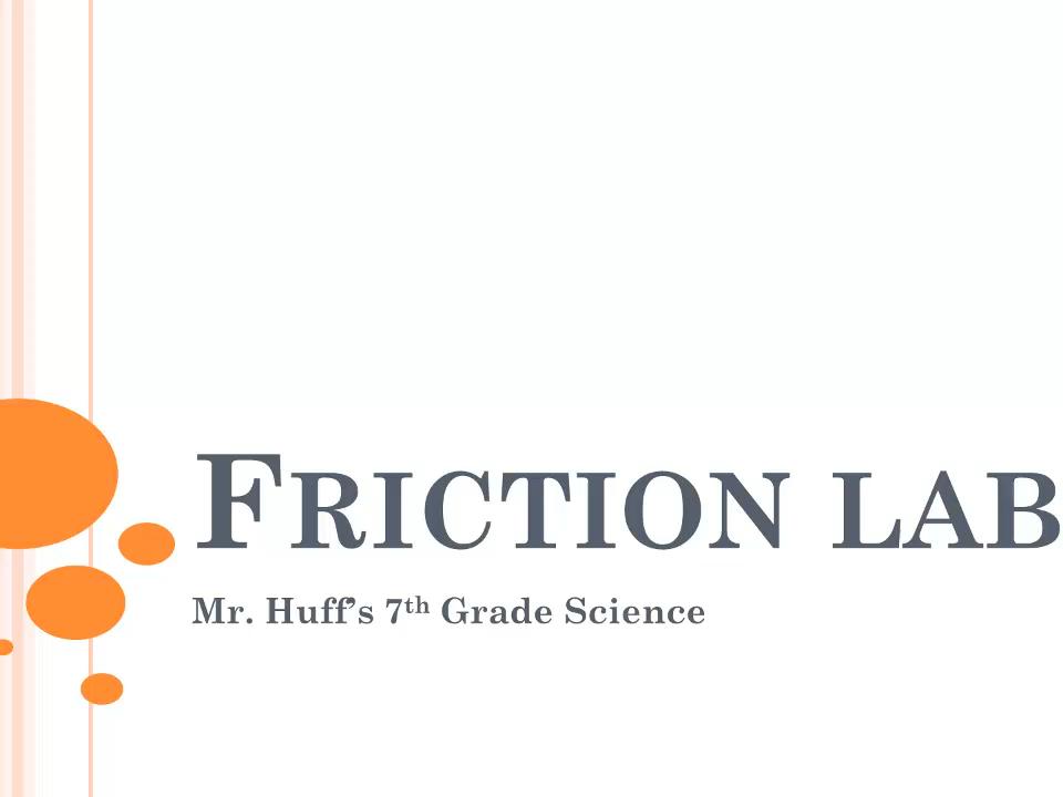 Factors That Affect Friction Lab - BUNDLE