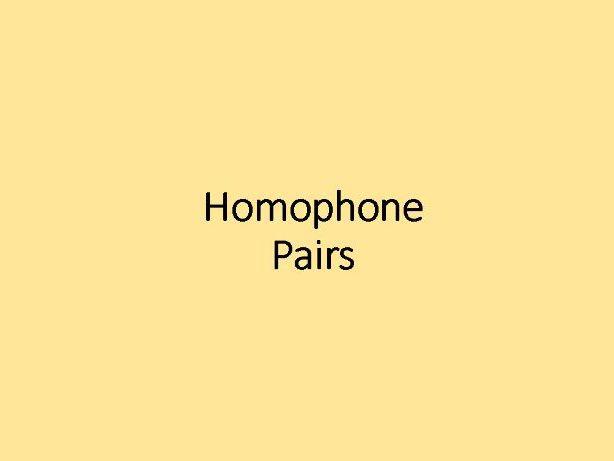 Homophone Spelling Game