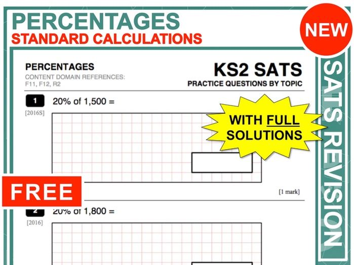 Y6 Maths SATs Revision (Percentages)