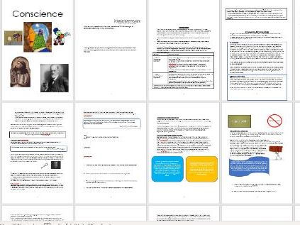 Conscience Workbook and Power Points