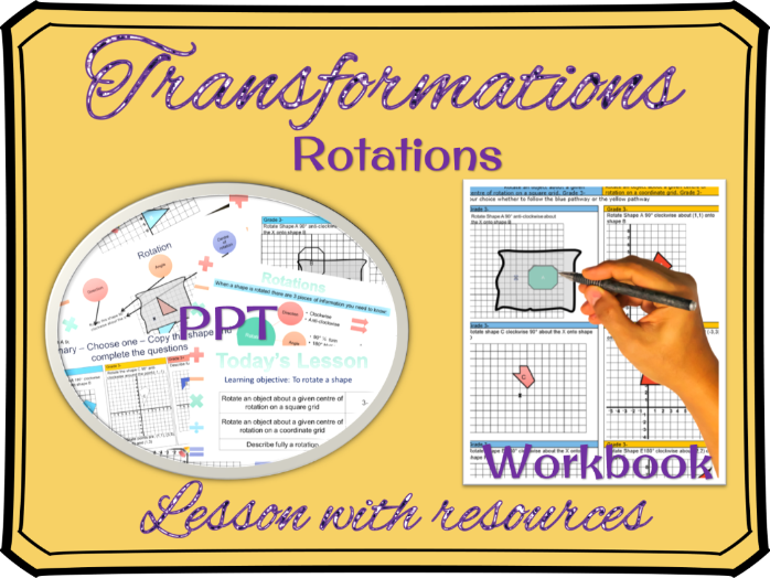 Transformations - Rotations Lesson (download, print and teach)
